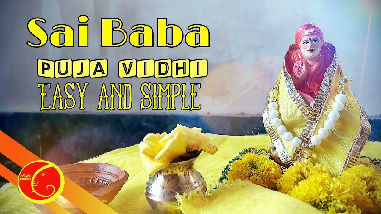 Sai baba puja vidhi easy and simple | Sai baba saj | Sai baba thursday puja  vidhi | Sai baba puja