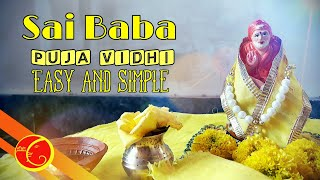 Sai baba puja vidhi easy and simple | Sai baba saj | Sai baba thursday  puja vidhi |  Sai baba puja