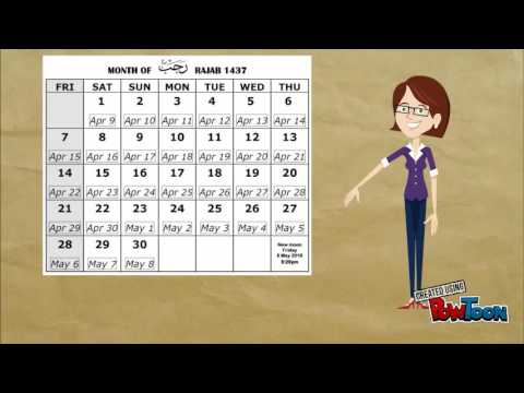 12 Months of Islamic Calendar