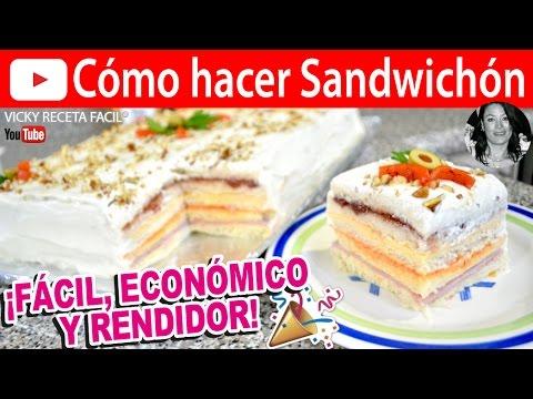 CÓMO HACER SANDWICHÓN   Vicky Receta Facil