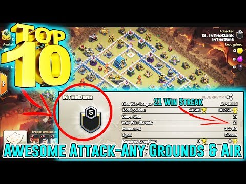 AWESOME!! THE BEST CLAN - InTheDark ATTACK - ANY GROUNDS & AIR TH12 ( Clash Of Clans )