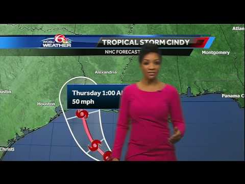 Wednesday forecast: More rainfall, breezy winds from Tropical Storm Cindy