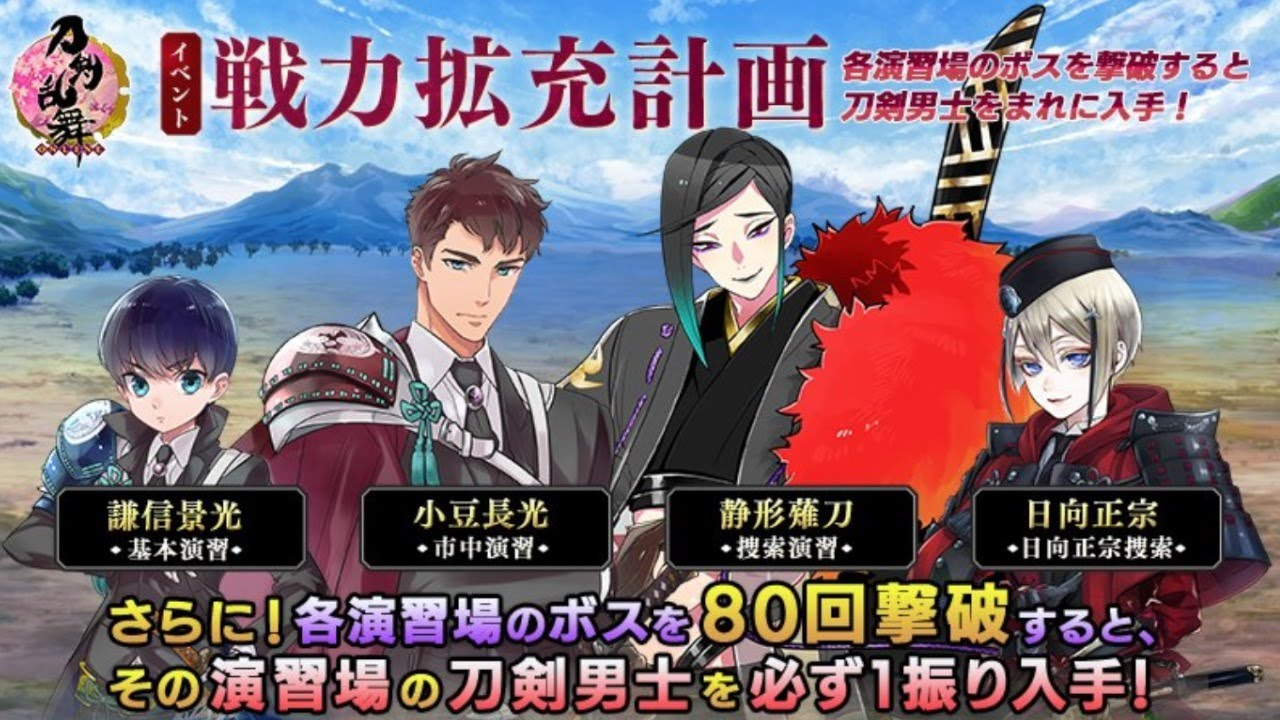 戦力 刀剣 計画 2020 拡充 乱舞