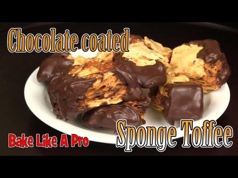 Honeycomb / Crunchie bar recipe ! / Sponge Toffee recipe