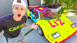 SHE RUINED MY LAMBORGHINI!! (STICKY NOTE GONE WRONG)