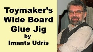 Wood Toy Plans - Toymaker's Wide Board Glue Jig