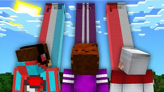 НЕБОСКРЕБ КОМПОТА ПРОТИВ НЕБОСКРЕБ ТОПОВСКОГО vs ПИКСЕЛЯ В МАЙНКРАФТ 100% Троллинг Ловушка Minecraft