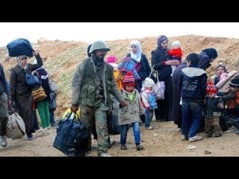 Syria News 31.12.2017, Army evacuates civilians form the industrial city of Adra