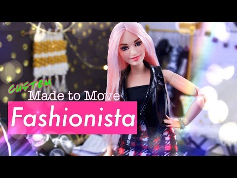 DIY - How to Make CUSTOM Made to Move Barbie Fashionista PLUS Bedroom