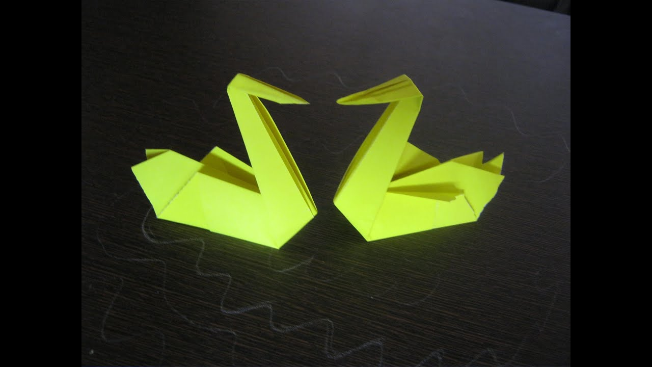 Origami Tutorial How To Make A Paper Swan Origami Step
