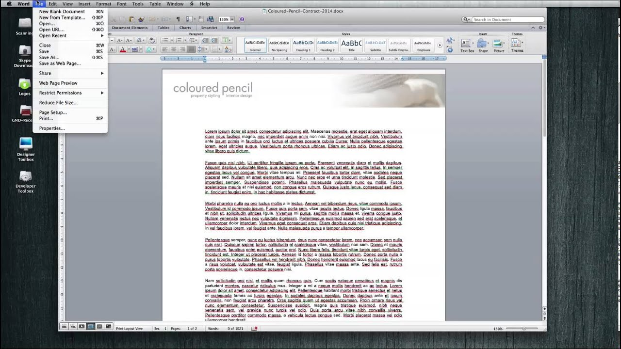 Print A Borderless PDF From Microsoft Word Document