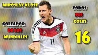 Download Video Todos los goles de Miroslav Klose en los Mundiales (16) (Goleador) MP3 3GP MP4