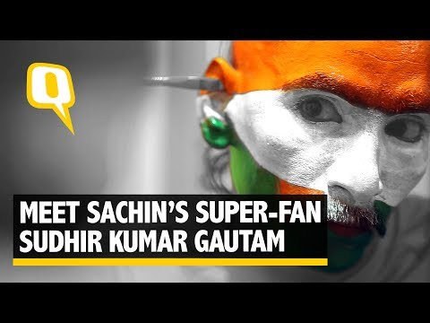Meet Sudhir Kumar Gautam, India's Cricket Mascot & Sachin's Biggest Fan - The Quint