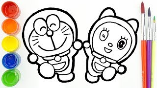Glitter Doraemon Dorami Drawing and Coloring 🐱 ドラえもんの色付け 🐱 Sunny Colours
