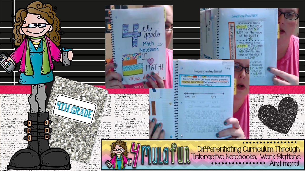4th Grade Interactive Math Notebook with Smith Curriculum and ...