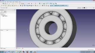 FreeCAD Modeling a Ball Bearing