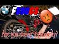 BMW F800GS chain adjustment