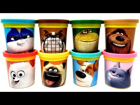 The Secret Life of Pets 2 Play-Doh Can Heads & Toys Max Chloe Dragon Duke Gidget Mel Ripper Snowball