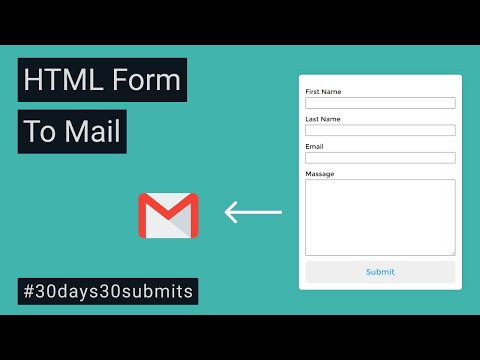 HTML Form To Mail | Create Full Functional HTML Form Without Any Back-end