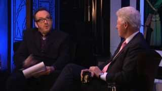 Elvis Costello in conversation with Bill Clinton