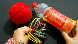 Best Craft Out Of Waste Bangle and Waste Plastic Bottle | Home Decor Idea