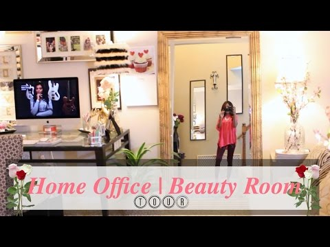 ♥ Glam Home ♥ Beauty Room | Home Office Tour