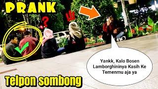 Telponan Sombong Disamping Orang! Eh Malah Dapet Cewe Cantik..   Prank Indonesia