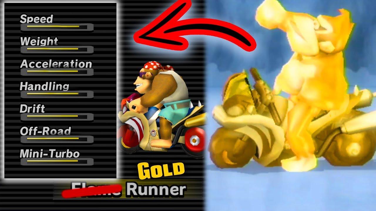 Best Stats Mario Kart Wii Vehicle Gold Runner Youtube