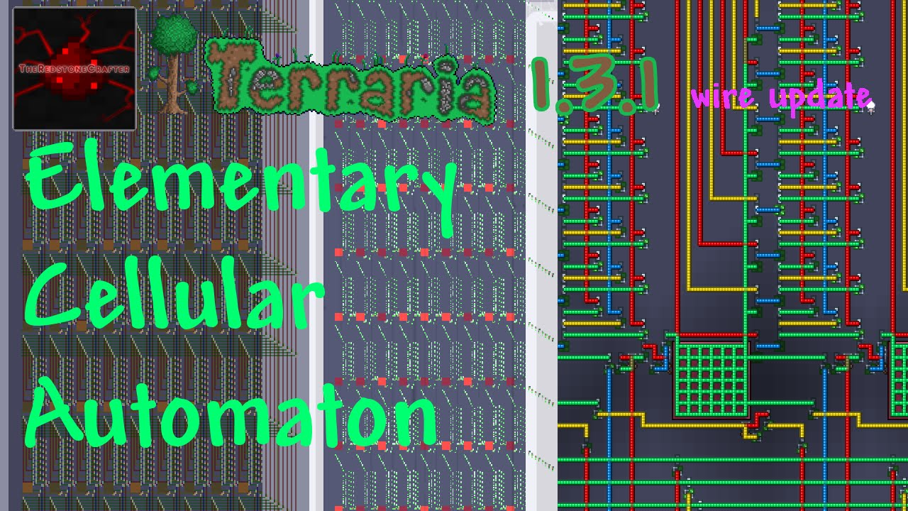 terraria 1 3 1 wire update elementary cellular automaton wire rh youtube com Terraria Statue Wiring Terraria Heart Statue Wiring