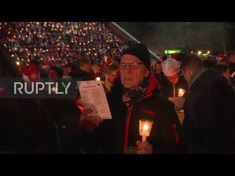 Germany: Thousands Of FC Union Berlin Fans Sing Christmas Carols