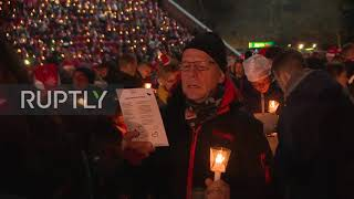 Germany Thousands of FC Union Berlin fans sing Christmas carols