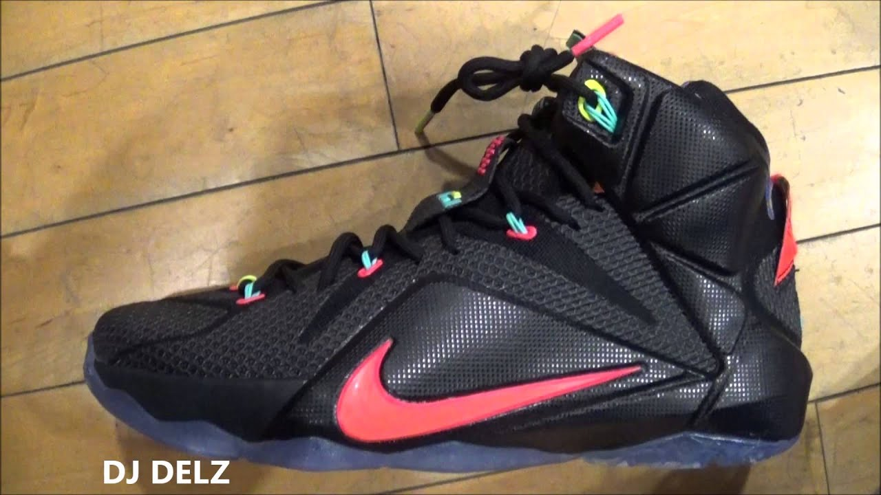 buy online 7c73a f932e Nike Lebron 12 Data Sneaker Review With  DjDelz  HotOrNot
