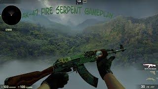 Counter Strike: AK-47 Fire Serpent Field Tested - CS:GO Gameplay #1