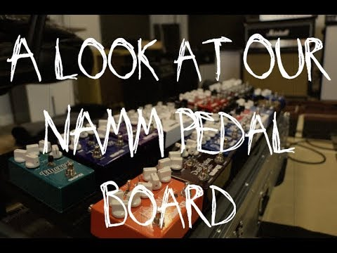 A look at the Wampler Pedalboard, here's what's on it for the NAMM show