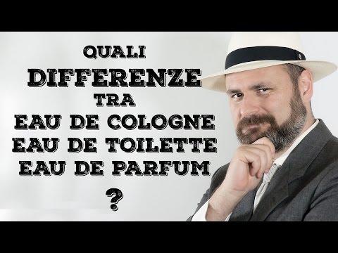 Differenze tra Eau de Cologne, Eau de Toilette e  Eau de Parfum