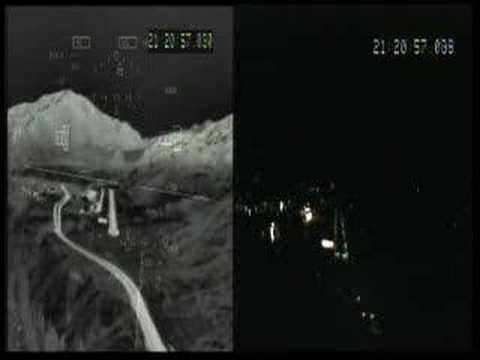 FLIR (Forward Looking Infrared Radar) landing at Aspen, Colo