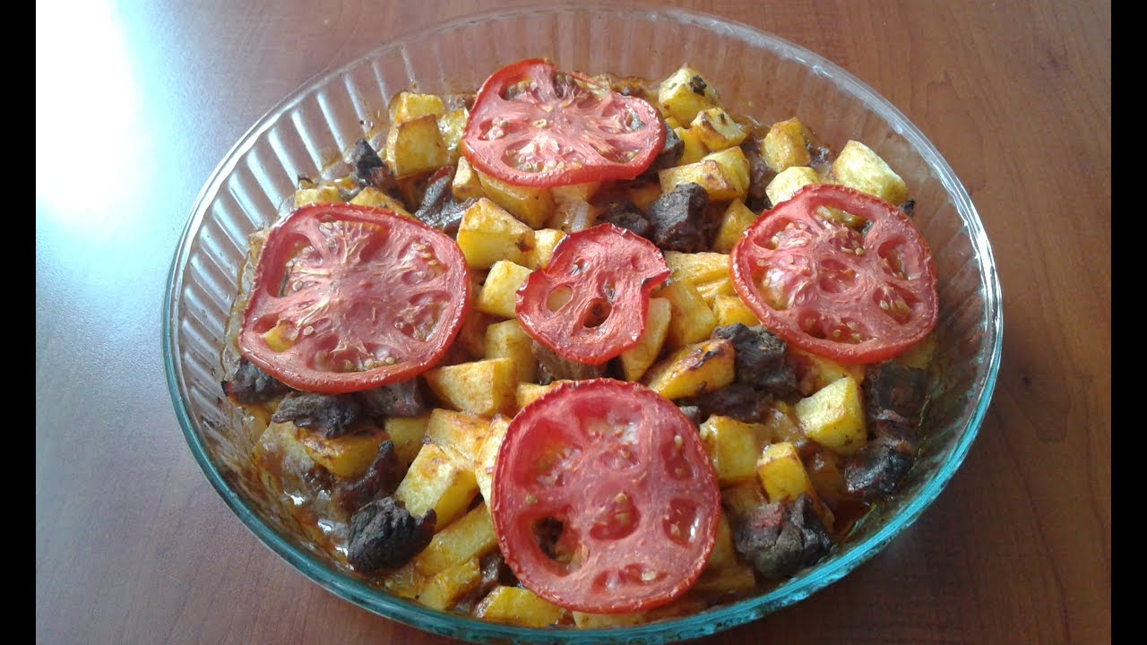 Fırında Parça Etli Patates Yemeği Tarifi Videosu