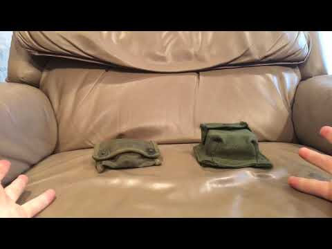 Canadian Pattern 51 Compass Pouch And Korean War Compasses