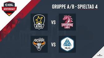 LIVE: ESG vs. UOL & epikk vs. NLG - ESL Meisterschaft 2020 - Season 1 - Spieltag 4.2