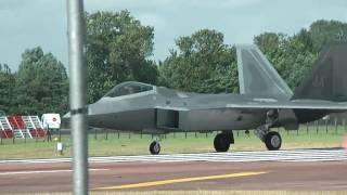 F-22 A Raptor, (1080HD) RAF Fairford Riat Air Tattoo, Pt 1 (High Definition)