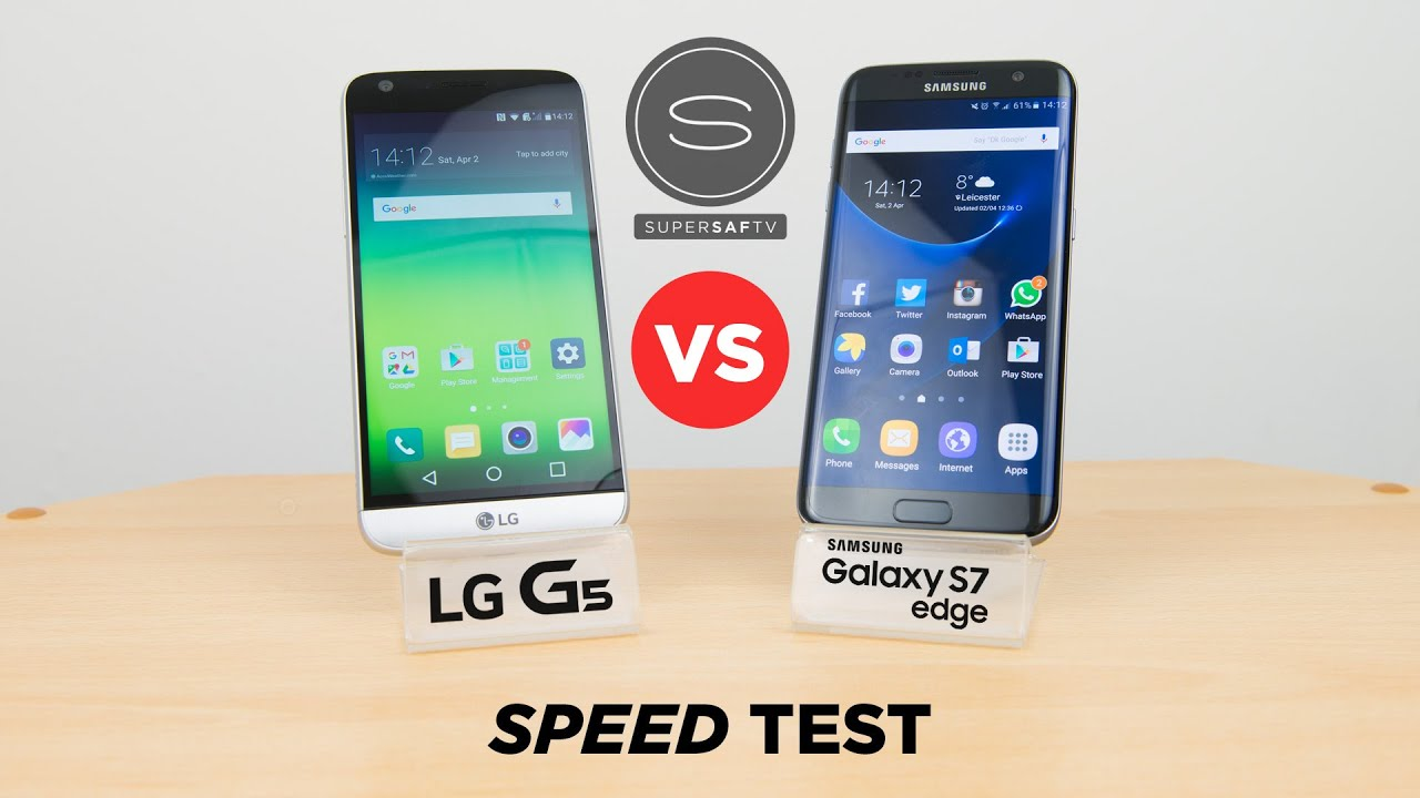 LG G5 vs Samsung Galaxy S7 - Speed Test