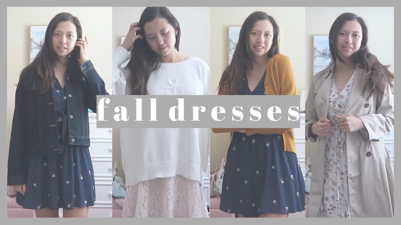 [VIDEO] - How to Wear Dresses in Fall/Chilly Weather | Autumn Fashion Lookbook Inspiration | Love Ara 5