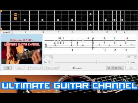 Guitar Solo Tab Billionaire Travie Mccoy Youtube