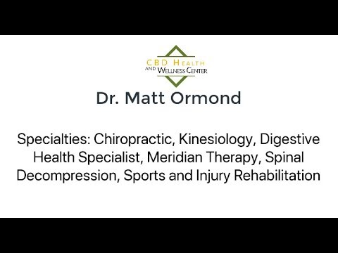 How Dr. Ormond uses CBD in his Chiropractic practice