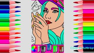 How to draw a Pretty girl Coloring,coloreel , coloring , drawings,Learn to Draw for Kids,Toy Art