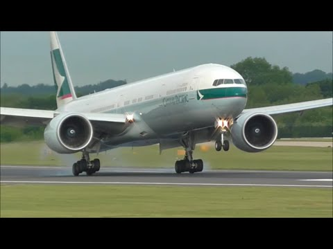 Manchester Airport, RWY05R Close Up Morning Arrivals | 23/06/15