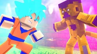 Minecraft: GOKU SUPER SAYAJIN BLUE VS GOLDEN FREEZA - DRAGON BLOCK C ‹ PORTUGAPC ›