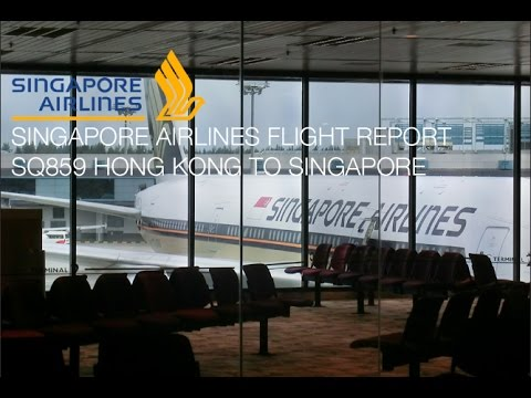 Singapore Airlines Flight SQ859 Hong Kong to Singapore Boeing 777-200