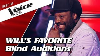 TOP 10 | will.i.am's FAVORITE Blind Auditions in The Voice Kids