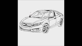 How To Draw A Car #05 (Honda Civic Car)